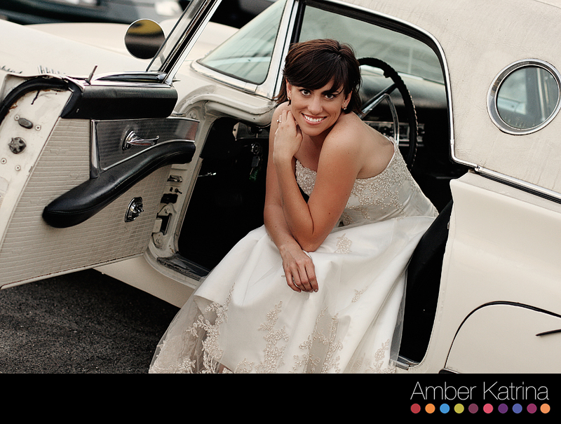 Azusa Arcadia Wedding Bridal Trash the Dress Photography Vintage Car Picture