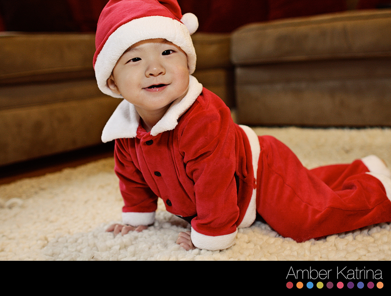 Arcadia Family Photography 9 Month Old Baby Santa Suit