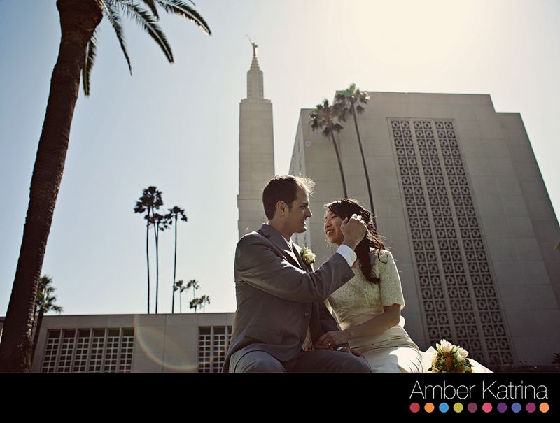 Los Angeles LDS Temple wedding photography photographer