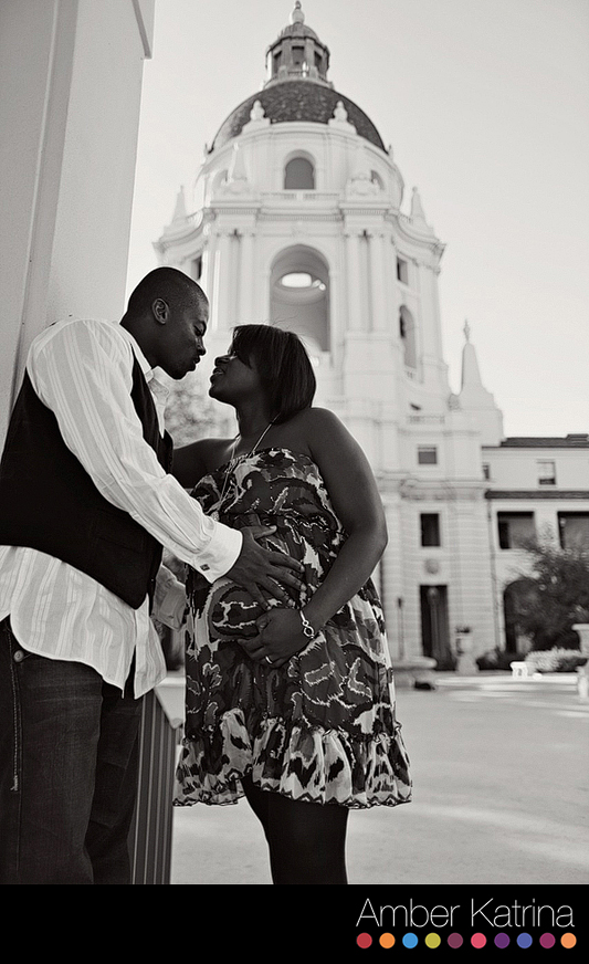 Old Town Pasadena City Hall LA Maternity Photography
