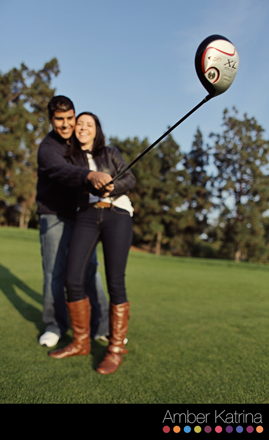 Engagment photography session at pacific palm golf course and resort in industry hills la southern california