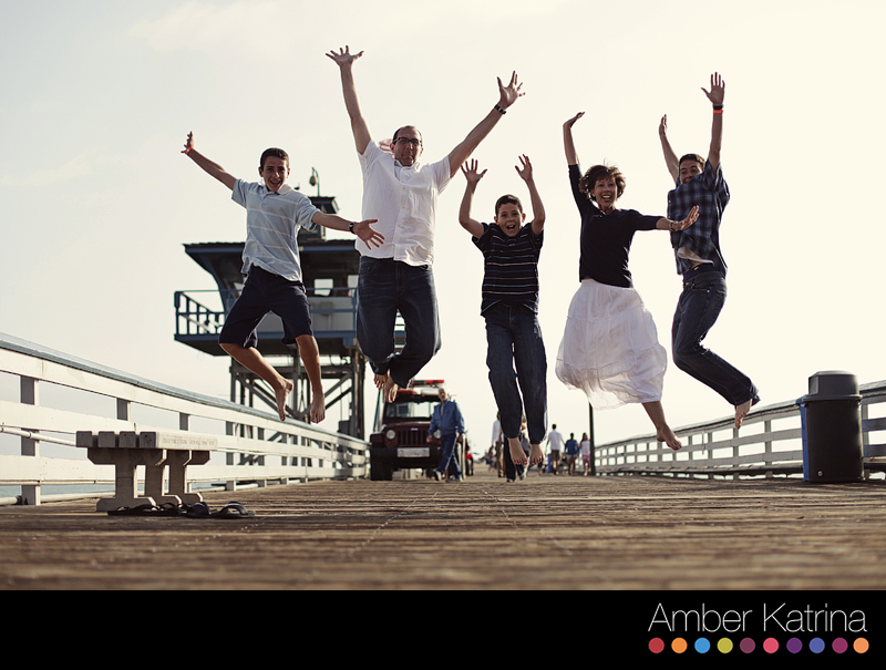 Newport Beach OC Family Photography jumping photo contest