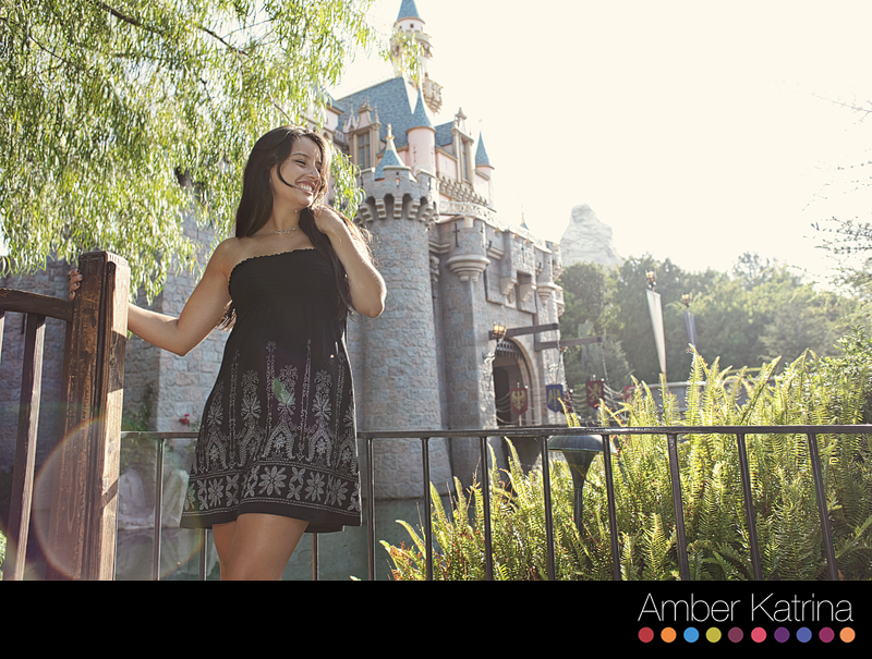 Disneyland senior picture graduation sleaping beauty's castle