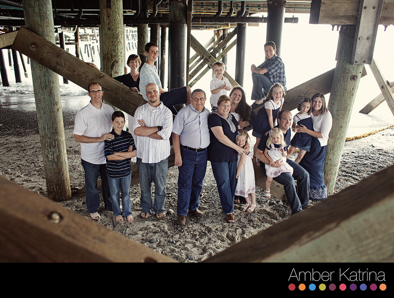 San Clemente beach extended family portrait photography