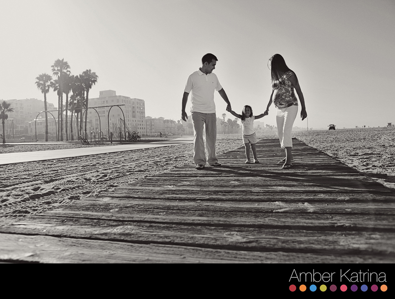 Santa Monica Beach Orange County Maternity Family Photography