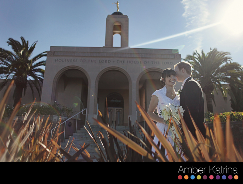 Newport Beach LDS Temple Mormon Wedding Beach Photography