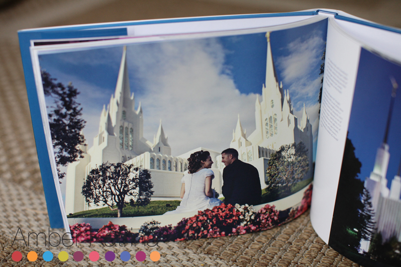 published mormon wedding lds san diego temple photography book