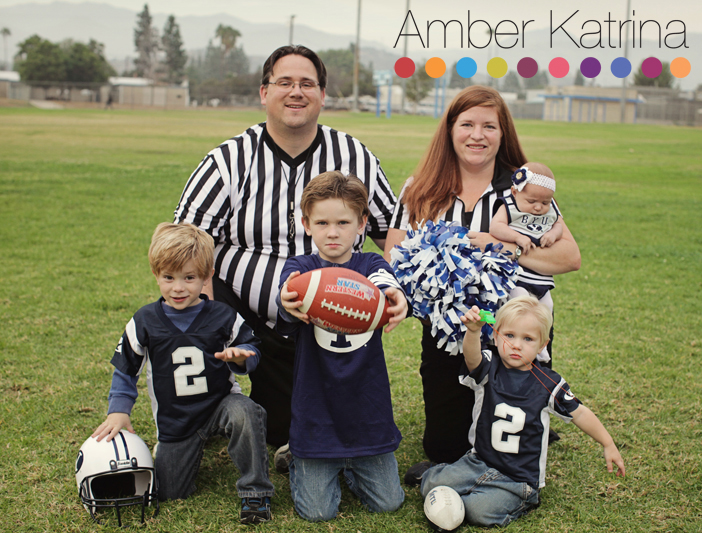 Halloween BYU football players cheerleader referee family costume