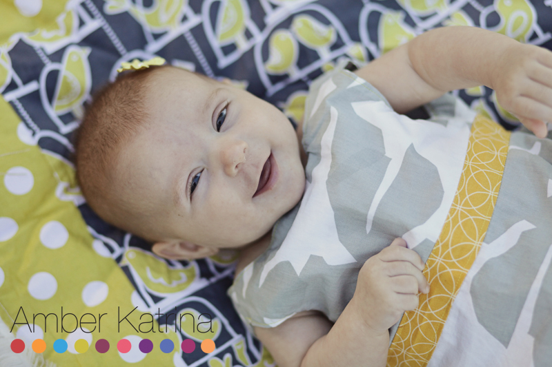 3 month old baby photography hand made blanket and dress