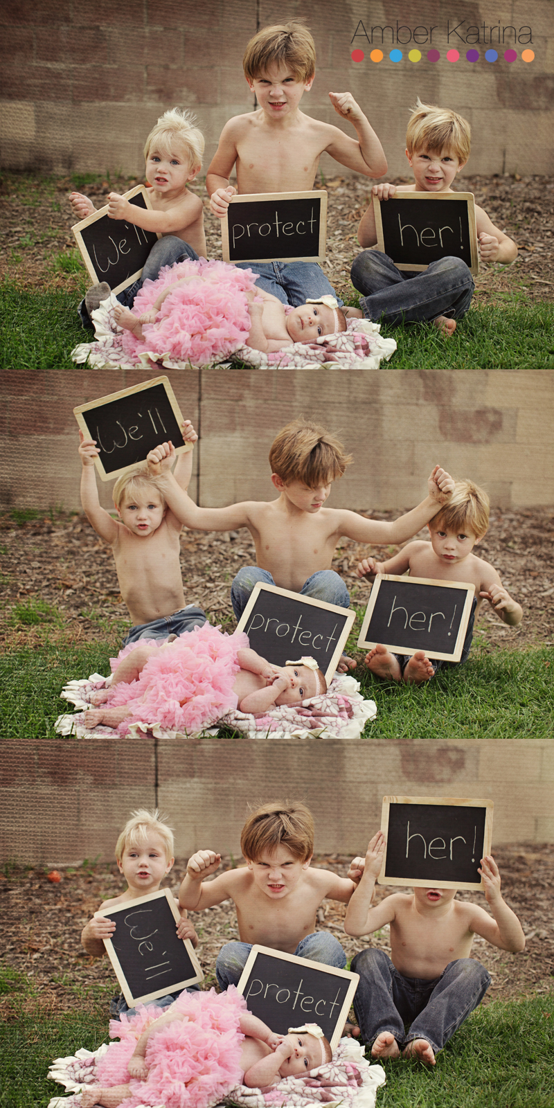 older brothers baby sister we'll protect her chalkboard signs newborn tutu