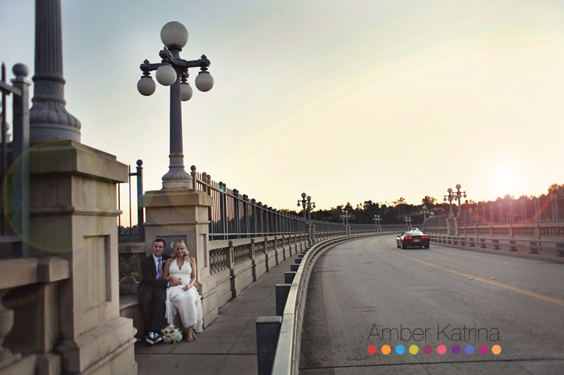 Pasadena Maxwell House Wedding Photography Colorado Street Bridge