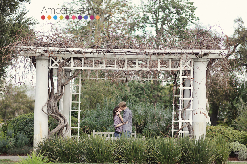 Pasadena Huntington Library and Gardens Engagement Photography