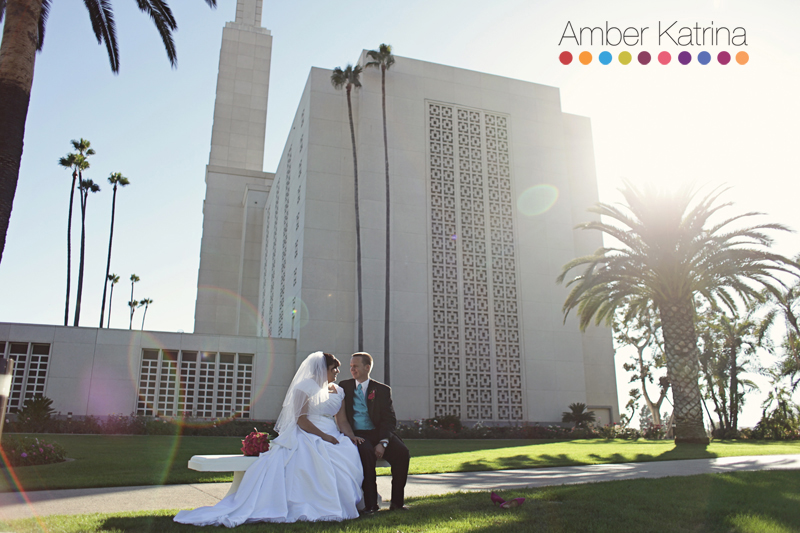 Los Angeles LDS Temple mormon Wedding