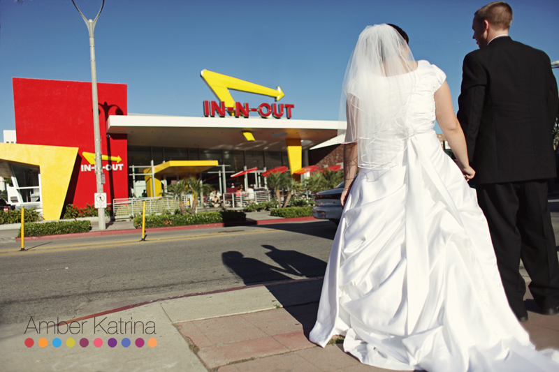 Los Angeles LDS Temple mormon Wedding In-N-Out