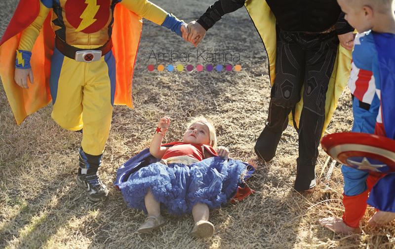 Halloween superhero kid costumes