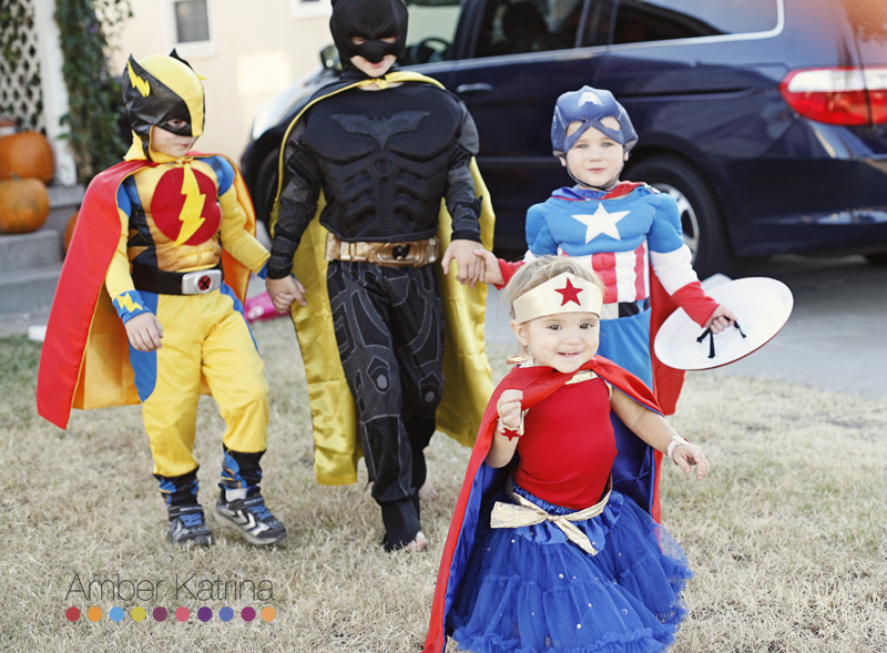 Halloween superhero kid costumes