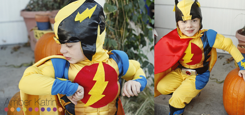 Halloween superhero kid costumes flash