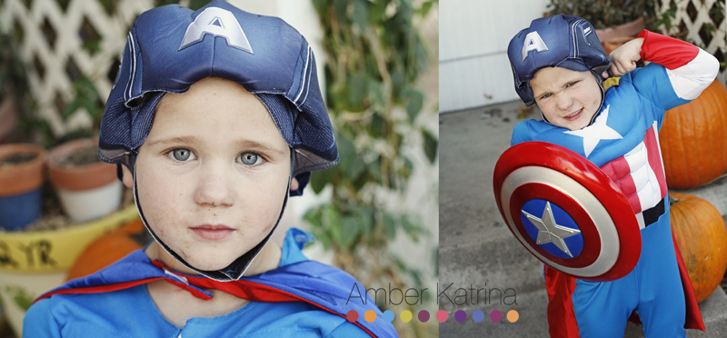 Halloween superhero kid costumes captain america